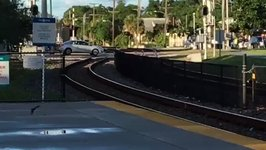 Car Stuck on Tracks in Florida Gets Hit by Train