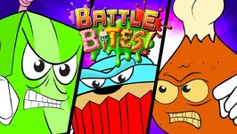 Hazardous Hot Wings VS Juiced Box - Battle Bittes Food Cartoon - Kids Videos - Food Attack