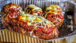 Sweet Hasselback Pizzatoes