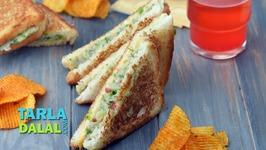 Cheese Vegetable Sandwich - Sandwich Recipe On A Tava