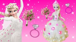 Making with Play Doh Frozen Elsa Disney Princess Sparkle Wedding Dress Crown Glitter Modelling Clay