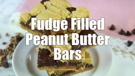 Fudge Filled Peanut Butter Bars