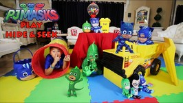 PJ MASKS  HIDE and SEEK in our HOUSE  DEION'S PLAYTIME