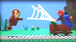 Lego Prank War - Iron Man vs Spider Man