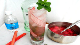 Cocktail Recipe - Rhubarb Mojito