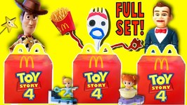 Toy Story 4 McDonalds HAPPY MEAL TOYS GAME - FULL SET of Movie Toys w/ RV