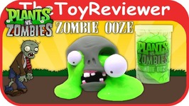 Plants Vs. Zombies Ooze Slime Head Unboxing Toy Review