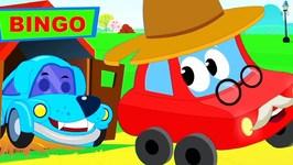 Bingo - Dog Song Cartoons For Kids - Little Red Car