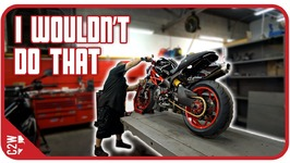 Even The Pros Do Some Sketchy Stuff - Wrecked Bike Rebuild - Ep 14 - Ducati Monster 1100