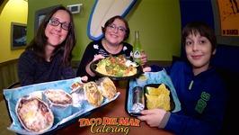 Burritos And Nachos Taco Del Mar / Gay Family Mukbang - Eating Show