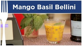 Mango Basil Bellini Cocktail