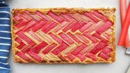 Dessert - Rhubarb And Almond Tart