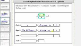 Determine The Construction Of An Equation - 4 Steps - Ex 2