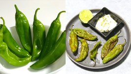 How To Air Fry Charred Or Blistered Shishito Or Anaheim Peppers