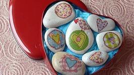 Manualidades para San Valentin, Cómo Decorar Piedras, Valentine's Ideas, Stone Crafts