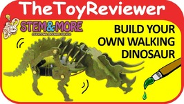 STEM and More Triceratops The Walking Dinosaur 3D Puzzle Robot Unboxing Toy Review