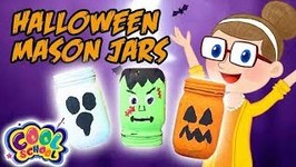 Halloween Monster Mason Jars - Halloween Crafts - Crafty Carol - Crafts for Kids - Cartoons for Kids