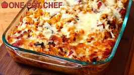 Cheesy Beef And Spinach Pasta Bake