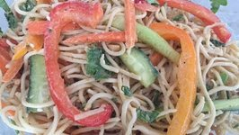 Quick Easy Thai Noodle Salad - Vegan And Healthy