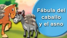 Fábula del caballo y el asno para niños. Cuentos con moraleja y valores para niños