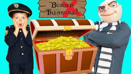 The Stolen Buried Treasure  Real Life Kid Cops And Gru Goes To Jail