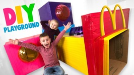 Diy Mcdonalds Playground In Our House Fun Family Box Fort Challenge
