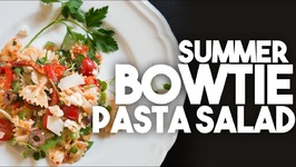 Summer Bowtie Pasta Salad - Vegetarian With Vegan Options