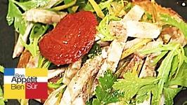 Tartine de pied de porc en salade