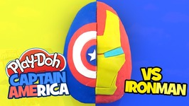 Captain America Civil War Play-Doh Surprise Egg With Captain America Vs Iron Man With Avengers Toys