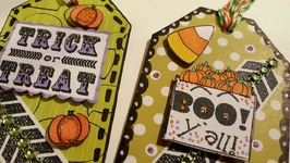 DIY HALLOWEEN GIFT TAGS USING CEREAL BOXES  PAPER CRAFTING