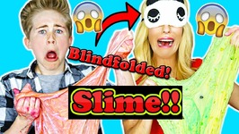 Blindfolded Slime ASMR Challenge With Rebecca Zamolo - Casey Simpson