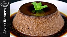 Receta de flan de chocolate sin horno