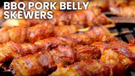 BBQ Pork Belly Skewers