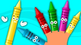 Crayons Finger Family - Nursery Rhymes