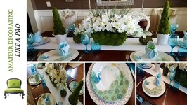 Spring/Easter Tablescape And Dollar Tree Moss Floral Pot Centerpiece DIY