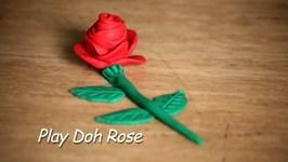 Play Doh Rose