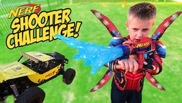 Iron Spider-Man Nerf Shooter Challenge Super Hero Gear Test For Kids