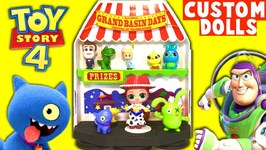 UGLY DOLLS play TOY STORY 4 CARNIVAL GAMES for Surprise Toys w/ CUSTOM LOL DOLLS