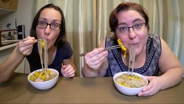 Asian 5 Spice Meatball Noodle Soup /Gay Family Mukbang - Eating Show