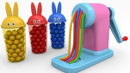 Learn Colors For Kids With Squishy Balls And Bunny Molds Kids Songs