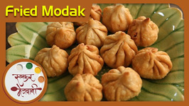 Maghi Ganpati Special - Fried Modak Recipe by Archana in Marathi - Sweet Dumplings