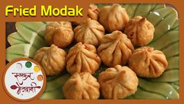 Maghi Ganpati Special - Fried Modak Recipe By Archana In Marathi - Sweet Dumplings