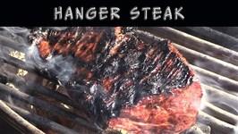 Hanger Steak On Weber Kettle
