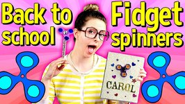 Back To School Fidget Spinner DIY Notebook And DIY Pencil Topper - Arts And Crafts With Crafty Carol