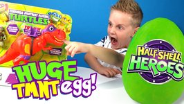 Ninja Turtles Toys Kinder Play-Doh Surprise Egg And Dinosaurs Half-Shell Heroes Unboxing