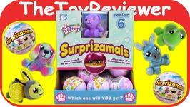 Full Case Surprizamals Series 6 Blind Bags Plush Surprise Animal Unboxing Toy Review