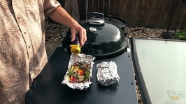 Beer Braised Sausage & Peppers Hobo Pack on Weber Kettle Performer