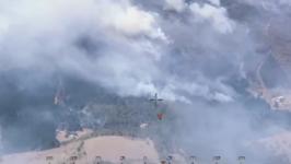 Firefighters Battle Mount Canobolas Blaze