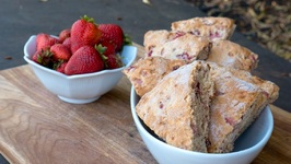 Zesty Strawberry Scones
