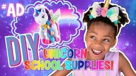 DIY Unicorn School Supplies with Myla the Unicorn - 5 Minute Crafts for Kids